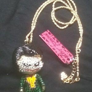 Betsey Johnson Joker Bling Necklace